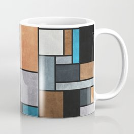 Random Concrete Pattern - Blue, Grey, Brown Coffee Mug