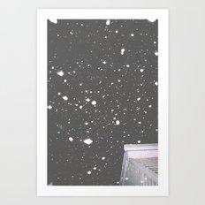 Snowfall Grantville Art Print