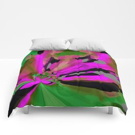 EB flowers Comforters
