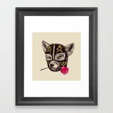 The Mask of Zorro Luchador Framed Art Print