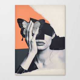 collage art / butterfly Canvas Print