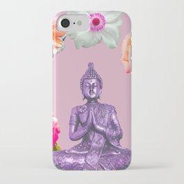 Lavender Buddha iPhone Case