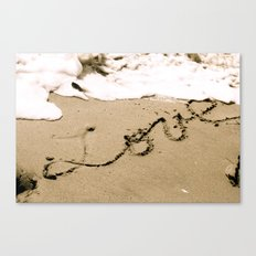 All you need is Love and Sand Canvas Print