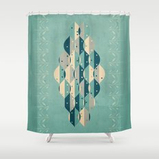 50's floral pattern IV Shower Curtain