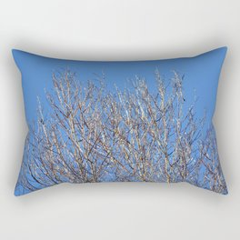 icy branches in sunlight Rectangular Pillow