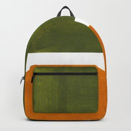Olive Green Yellow Ochre Minimalist Abstract Colorful Midcentury Pop Art Rothko Color Field Backpack