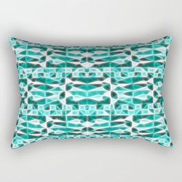 ▲►turquoise & white world◄▲ Rectangular Pillow