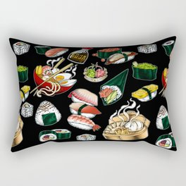 Sushi Black Rectangular Pillow