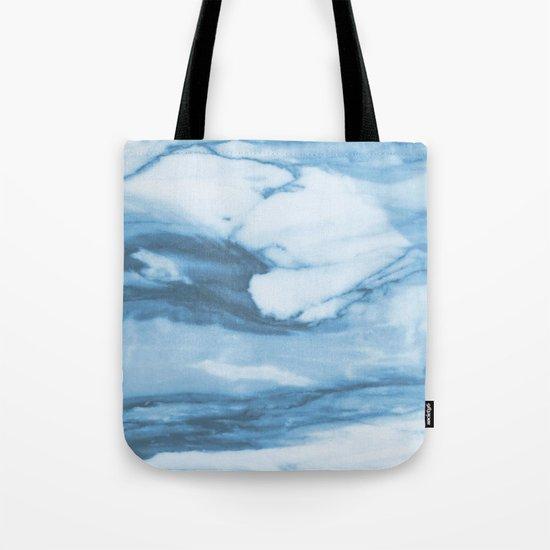 Marble Blue Ocean Tote Bag
