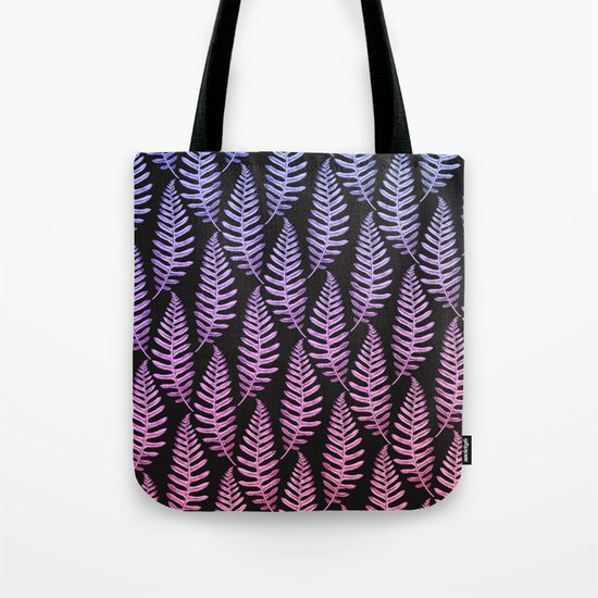 Multi Color Leaves (Black) Tote Bag