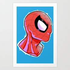 The Amazing Spider-Bust Art Print