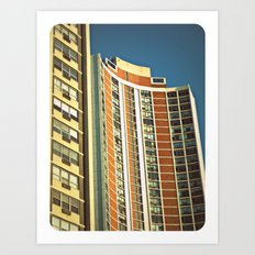 Lo-Fi Highrise ~ Mid-Century Architecture Art Print