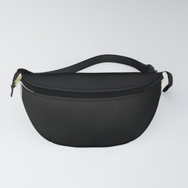Square Strokes White on Black Fanny Pack