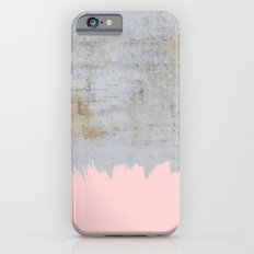 Paint with pink on concrete Slim Case iPhone 6s