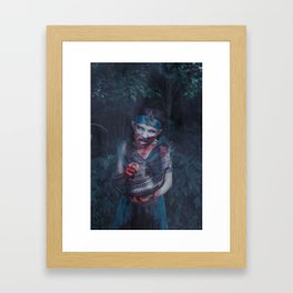Little Jasmine Zombie Framed Art Print
