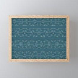 lines geo-teal Framed Mini Art Print