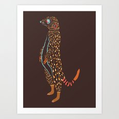Abstract Meerkat Art Print