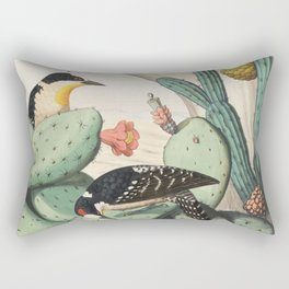 Woodpeckers And Cacti Rectangular Pillow