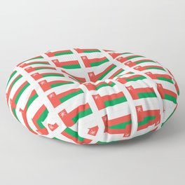 flag of oman ,عمان ,omani,Suwayq,muscat,dishdaska. Floor Pillow