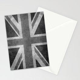 Union Jack Vintage 3:5 grayscale Stationery Cards
