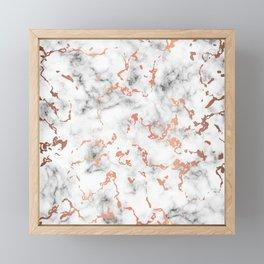 Marble Texture with Copper Splatter 041 Framed Mini Art Print
