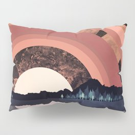 Forest Night Reflection Pillow Sham