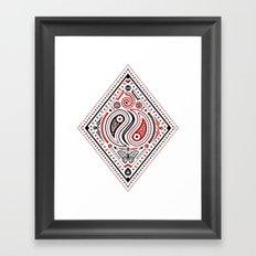83 Drops - Diamonds (Red & Black) Framed Art Print