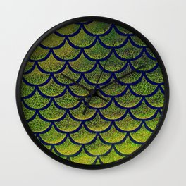 Chartreuse Cobalt Scales Wall Clock