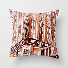 Lovers Diner Throw Pillow