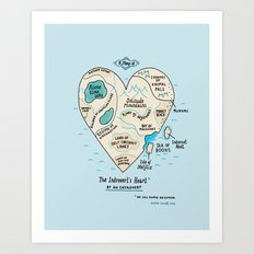 The Introvert's Heart Art Print