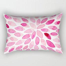 Watercolor brush strokes - pink Rectangular Pillow