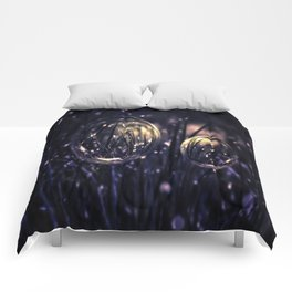 Dropping Bubbles Comforters
