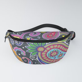 Oriental Persian Paisley - Green Pink Blue Yellow Fanny Pack