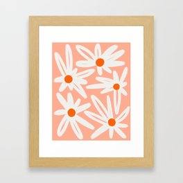 Happy Daisies Framed Art Print