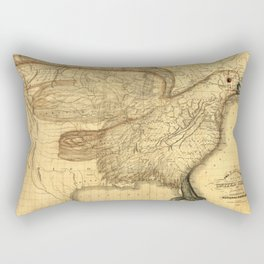 The eagle map of the United States, 1832 Rectangular Pillow