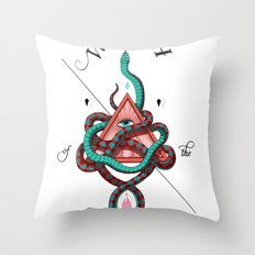 Wrath of the Serpent Throw Pillow