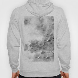 CHERRY BLOSSOMS GRAY AND WHITE Hoody