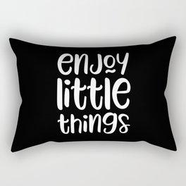 Enjoy little things motivational quote Rectangular Pillow