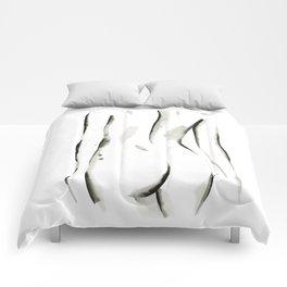 Black on White Nude No.2 Comforters