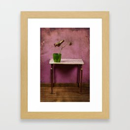 The colorful decay of plants Framed Art Print