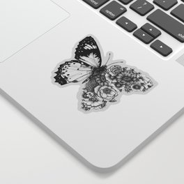Butterfly in Bloom Sticker