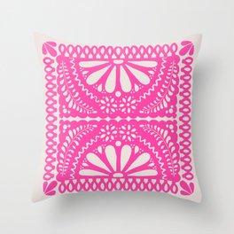 Fiesta de Flores Pink Throw Pillow