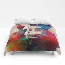 guitar art #guitar Comforters