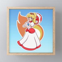 Fire Flower Peach! Framed Mini Art Print