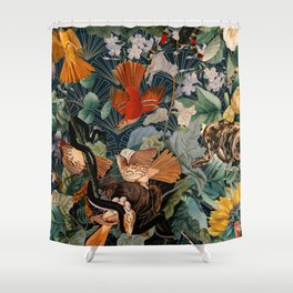 Birds and snakes Shower Curtain