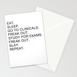 Clinical, Nursing Student, Med Student Stationery Cards