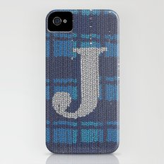 Winter clothes. Letter J. iPhone (4, 4s) Slim Case