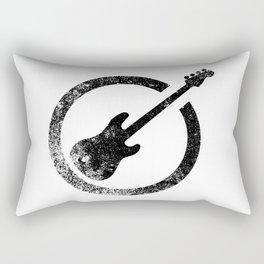 Bass Guitar Ink Stamp Rectangular Pillow