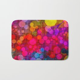 Rainbow Bubbles Abstract Design Badematte