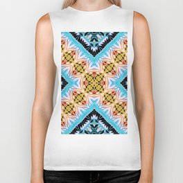 ethnic cross Biker Tank
